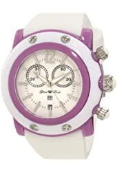 Glam Rock Women's GD1110-DC Miami Beach Chronograph White Dial White Silicone Watch