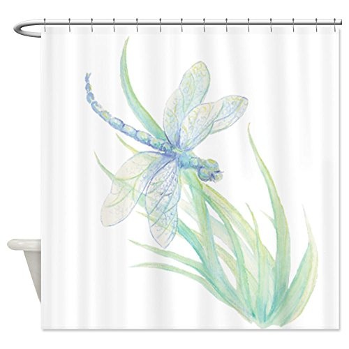 Watercolor Dragonfly Shower Curtain