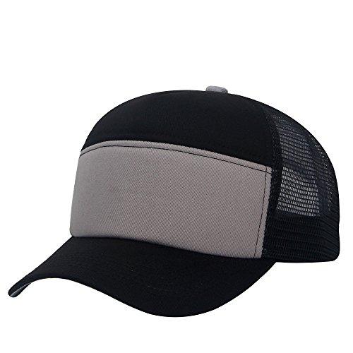 8eff5cba4 E-forest hair Unisex Plain Baseball Trucker Cap Mesh Blank Curved Visor Hat  Adjustable