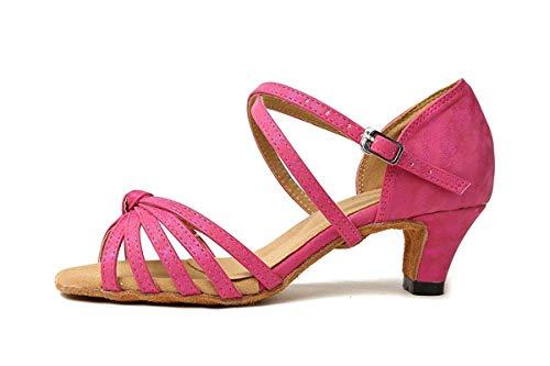 Sposa Sposa da da da Ladies ZHRUI 8cm Cross Knot 4 Sintetico 8 Scarpe Dimensione da Strap 8cm Latino Heel GL258 Colore Ballo Sandali Pink 4 Heel UK Purple qqYrw7