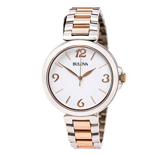 Bulova Women's 98L195XG Two-Tone White Dial Quartz Bracelet Watch (Certified Refurbished)