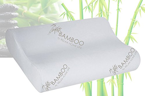 Cervical-Contour-Memory-Foam-Bamboo-Pillow-Stay-Cool-Removable-Cover-By-Bamboo-By-Relax-Home-Life