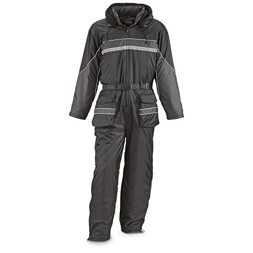 Guide Gear Men's One-Piece Snow Suit, Black/Gray, - Men Piece One For Suits