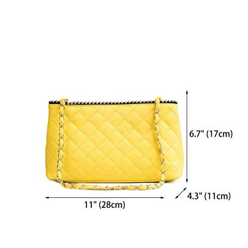 Shoulder Handbags Bags Body Bags Faux Cross Handle Leather Women's Yellow Bags Top q1XRYxn