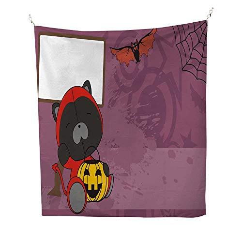 25 Home Decor Mandela Tapestries Baby Panther Demon Costume Cartoon Halloween Background Gray Tapestries 51W x 60L INCH ()