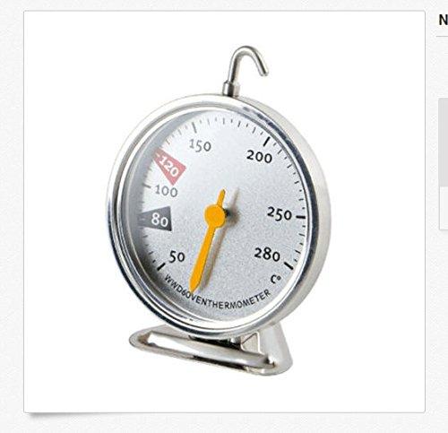 Termómetro para horno de cocina de 50 a 280 ºC, de acero ...