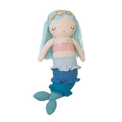 NoJo Sugar Reef Mermaid Super Adorable Mermaid Plush Doll, Aqua, Teal, Pink
