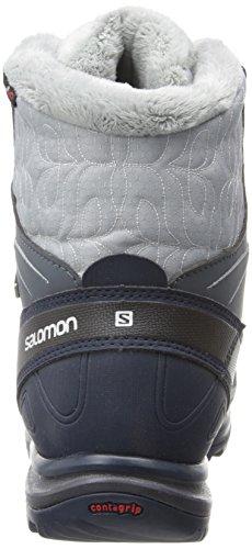 Salomon Kvinners Kaina Midten Cs Vanntett W Snø Boot Grå Denim / Mørkeblå / Stokk