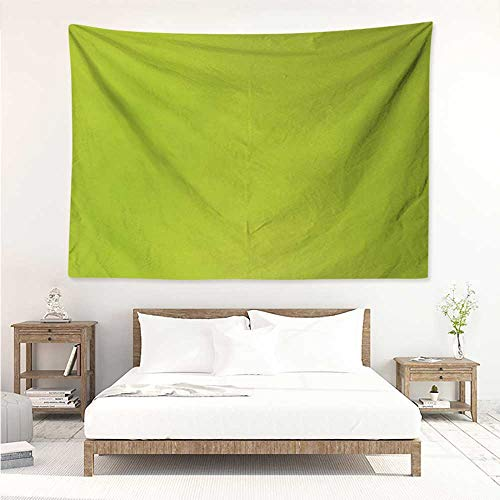 alisos Lime Green,Wall Tapestries Hippie Empty Backdrop Blurry Off Focus Pastel Toned Shade Color Spring Theme Abstract 80W x 60L Inch Beautiful Wall Hanging Apple Green