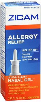 Zicam Allergy Relief No-Drip Liquid Nasal Gel - 0.5 oz, Pack of 5