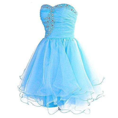 Senza da Abito partito Lilla Vestito da da damigella ballo sera Organza spalline Abiti da PRTS Corto Vestito Donne 5Zwp44