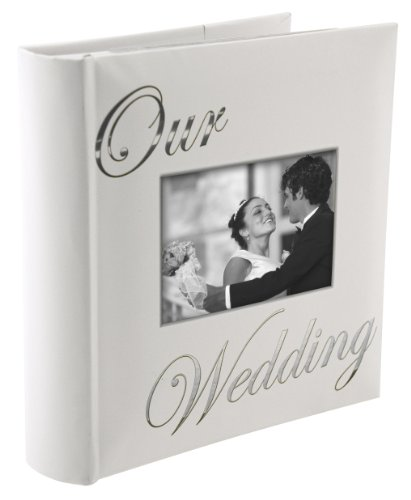 Malden Wedding Album with 4 by 6-Inch Cover Photo Opening, Our Wedding