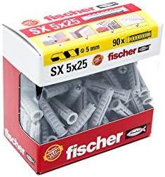 Fischer Taco SX 5x25 511943 Gris Caja de 90 Ud.