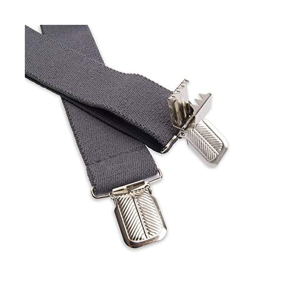 Dickies Men's 1-1/4 Solid Straight Clip Suspender, Charcoal, One Size