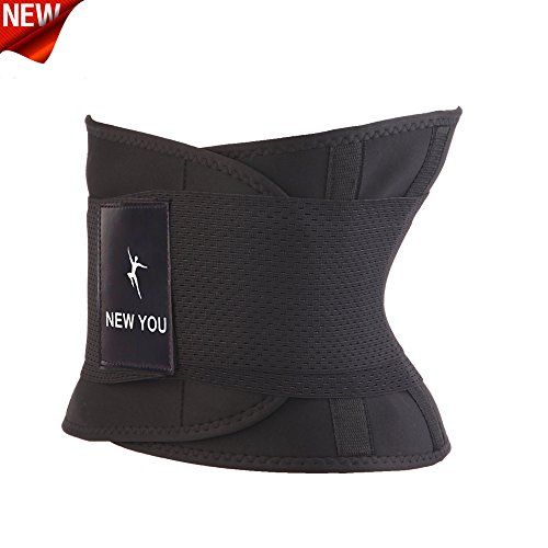 Waist Trainer Belt for Women and Men - Body Shaper Belt For An Hourglass Shaper New You(Black, X-Large)