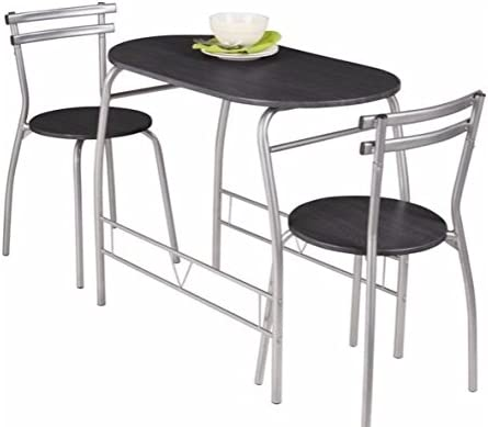 Empire Sterling Vegas Negro Mesa de Comedor y 2 sillas.: Amazon.es ...