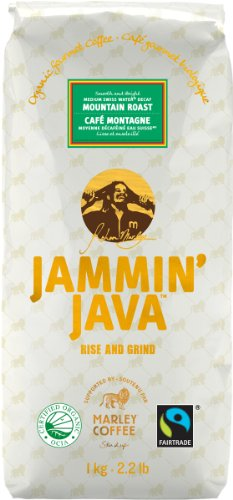 Jammin' Java Coffee Mountain Roast, Swiss Water Decaf, Organic Gourmet Whole Bean Coffee. Medium & Bright., 2.2-Pounds