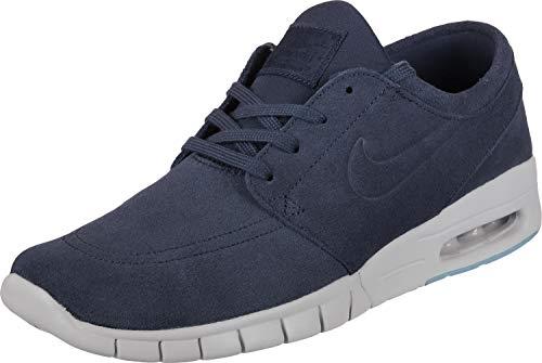 Nike Hommes Stefan Janoski Max De L Noir En Cuir Bleu / Sneaker Synth