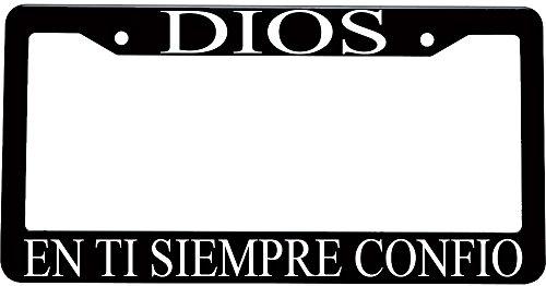 Dios en ti siempre confio spanish christian plastic license plate frame (Decoracion Para Autos compare prices)