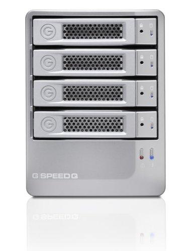 G-Tech G-SPEED Q - Hard drive array - 8 TB - 4 bays ( SATA-300 ) - 4 x HD 2 TB - FireWire 800, Serial ATA-300, SuperSpeed USB 3.0 (external)