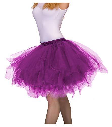 Dancina Adult Tutu Vintage Petticoat Tulle Tutu Skirt [XXL] Plus Size 12-24 Dark Purple ()