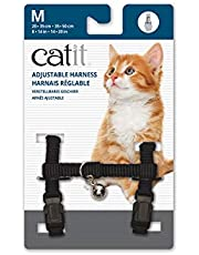 Catit Nylon Adjustable Cat Harness, Medium, Black