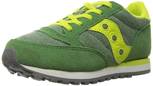 Saucony Jazz Original Sneaker (Little Kid), Green/Yellow, 11 M US Little Kid