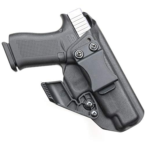 BrotherCraft Kydex Holster for Glock 48 - IWB AIWB with Removable Claw Concealment Wing, Adjustable Cant and Ride Height- Made in The USA (Black, Right-Handed)