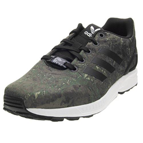 adidas Unisex-Kinder ZX Flux Sneaker Schwarz (Core Black/Footwear White)