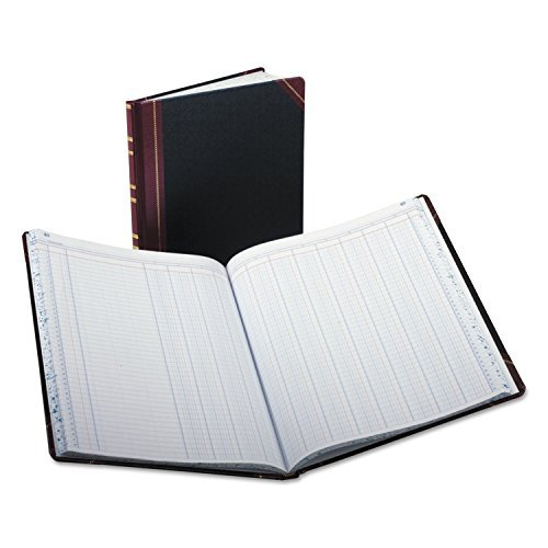 * Columnar Book, 12 Column, Black Cover, 150 Pages, 12 1/4 x 10 1/8 by 4COU by BOOK,COLUMNAR,12COLS,DOUBLE (Image #1)