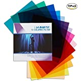 11 x 8.7-Inches Pack of 10 Colored Overlays Transparency Color Film Plastic Sheets Correction Gel Light Filter Sheet,10 Different Colors