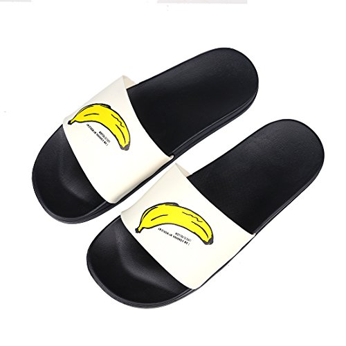 Cute Fruit House Slippers Boys Girls Family Shower Slide Anti-Slip Bath Slippers BK30 Black