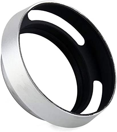 52mm Silver Metal Vented Lens Hood for Fuji X10 LH-JX10