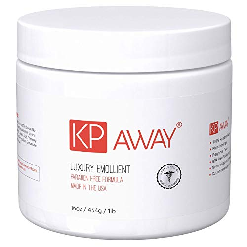 KPAway Keratosis Pilaris Treatment - Acid Free KP Cream, Lotion Made With Organic Coconut Oil, Baby Friendly, Paraben Free, For Rough & Bumpy Skin (16oz)