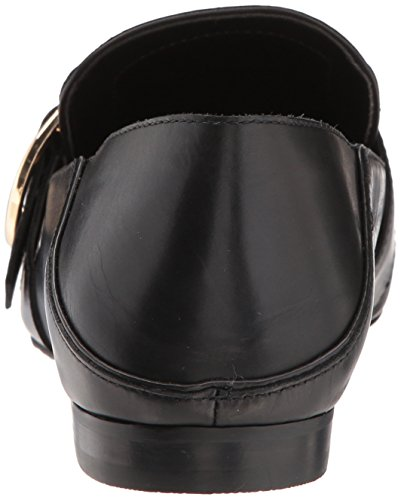 Steven By Steve Madden Womens Avi Mocassino In Pelle Nera Piatta