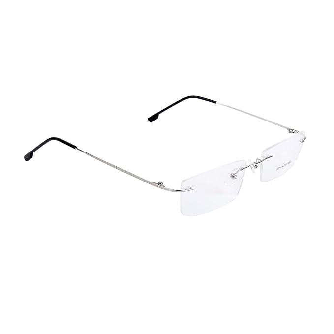 Sharplace Unisex Metallo Montatura Occhiali da Vista Telaio Montature - Argento PWhMrYvG