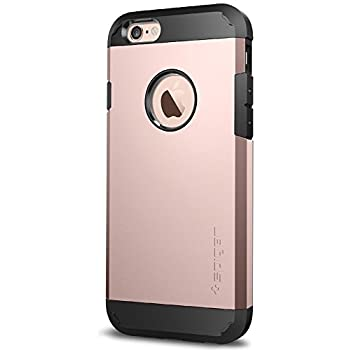 Spigen Tough Armor iPhone 6S Case with Extreme Heavy Duty Protection and Air Cushion Techonology for iPhone 6S 2015 - Rose Gold