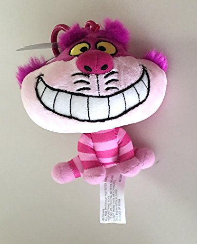 Disney Parks Cheshire Cat Big Head Plush Purse Hanger Keychain Key Chain
