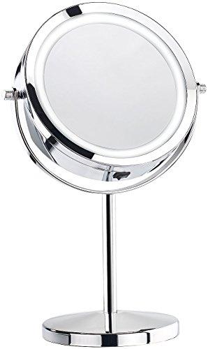 Sichler Beauty Stand-Kosmetikspiegel mit 18 LED, 1- & 3-fache Vergrößerung