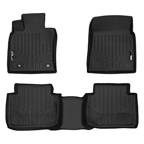 SMARTLINER Floor Mats 2 Row Liner Set Black for 2018 Toyota Camry Standard Models Only (No Hybrid)