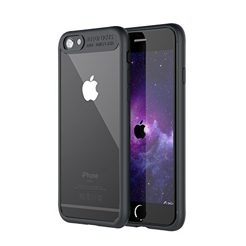 Marvotek Protective Case, iPhone 6/6s 4.7inch Case Ultra-thin Protecting Rubber Frame Crystal Clear Back Phone Case Black …