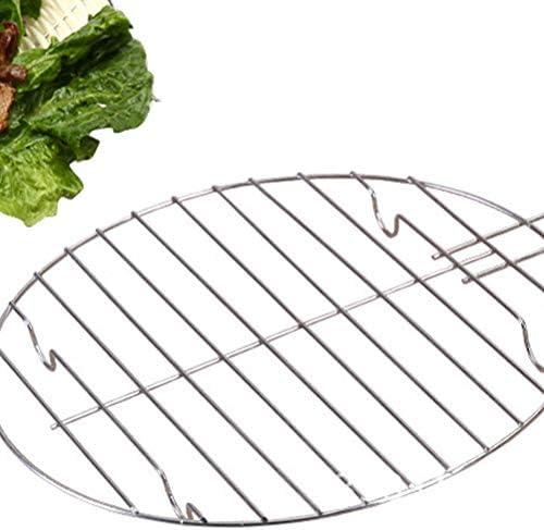 Doitool Grille de barbecue ronde 3 pièces en maille pour barbecue de jardin