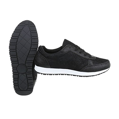 s35 Ital Sneakers Espadrilles Mode design Baskets Femme Fc Low Noir Plat Chaussures WgwOPxg