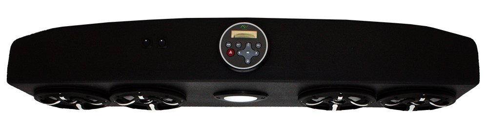 Froghead Industries EZGO304LB Four Speaker Bluetooth AM/FM Stereo System With LED Light Bar And RGB LED Speakers
