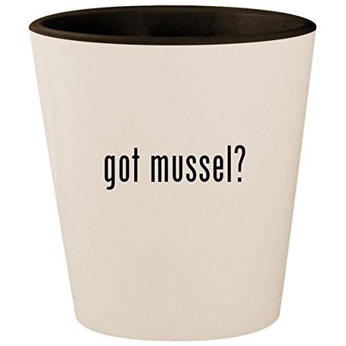 got mussel? - White Outer & Black Inner Ceramic 1.5oz Shot Glass