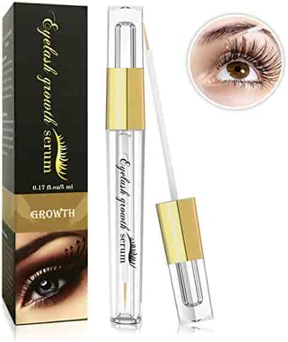 Eyelash Growth Serum- Natural Eyelash Growth Enhancer for Longer and Thicker, Fuller and Healthier Eyelash &Eyebrow - FDA Approved- No More False Eyelashes & Eyebrow Tattooing-5ml (black)