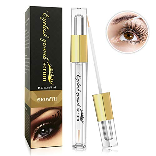 Eyelash Growth Serum- Natural Eyelash Growth Enhancer for Longer and Thicker, Fuller and Healthier Eyelash &Eyebrow - FDA Approved- No More False Eyelashes & Eyebrow Tattooing-5ml
