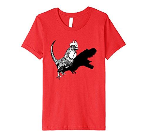 Kids Kepa Tees Chicken Dino T-Shirt 4 Red