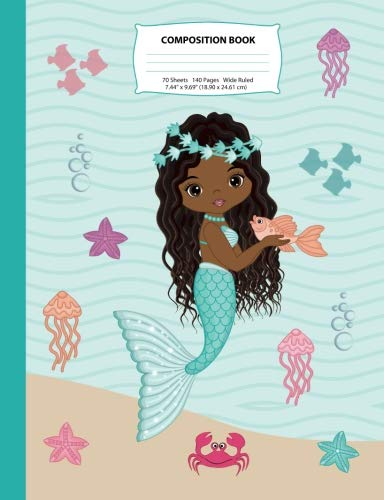 Search : Composition Book: Wide Ruled African American Mermaid Composition Notebook 1, Mermaid Notebooks and Journals, Black Girl Notebooks, Notebook, African ... (Mermaid Composition Notebooks) (Volume 1)