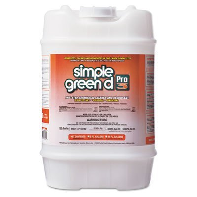Simple Green 30305 d Pro 3 One-Step Germicidal Cleaner and Deodorant, 5 gal Pail